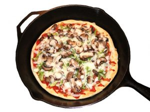 reheat pizza in skillet
