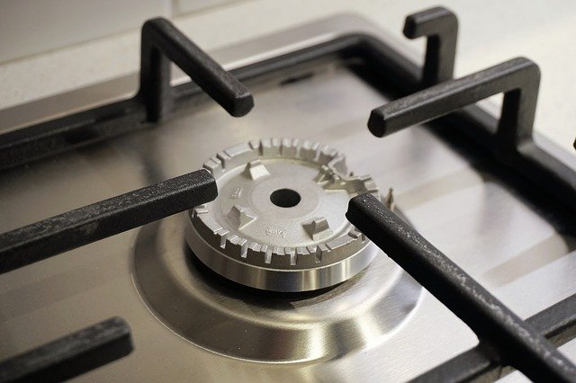 stainless steel gas cooktops with downdraft ventilation
